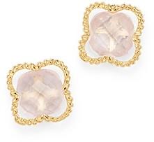 Bloomingdale's Rose Quartz Clover Stud Earrings in 14K Yellow Gold - 100% Exclusive