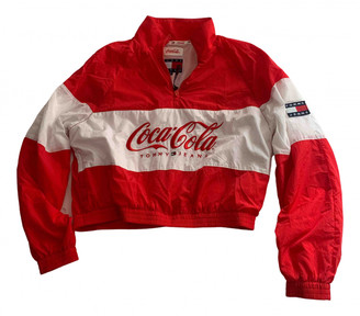 Tommy Jeans Red Polyester Jackets