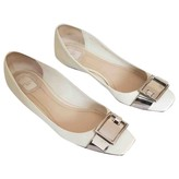 Christian Dior Beige Patent leather Ballet flats