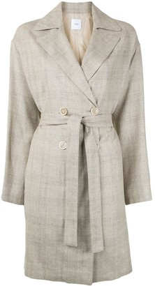 Agnona Belted Woven Coat