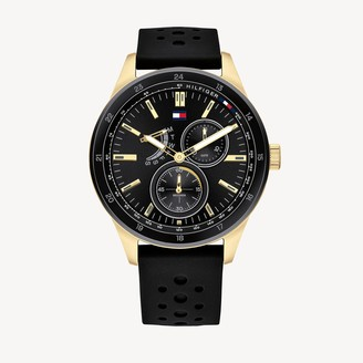 Tommy Hilfiger Sport Watch With Black Silicone Strap