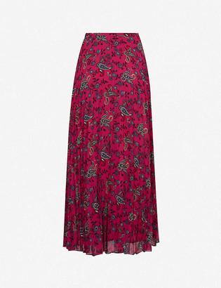 Claudie Pierlot Paisley-print crepe maxi skirt