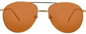Linda Farrow 482 C8 aviator sunglasses