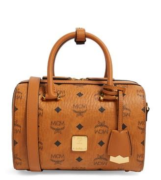 MCM Visetos Essential Boston Bag