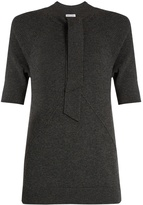 Tomas Maier Tie-neck cashmere-knit top
