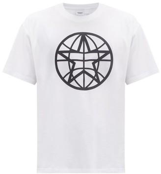 Burberry Navigational-star Print Cotton-jersey T-shirt - White