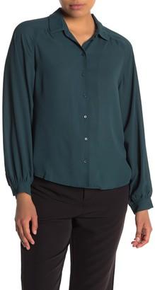 Lush Button Down Woven Shirt