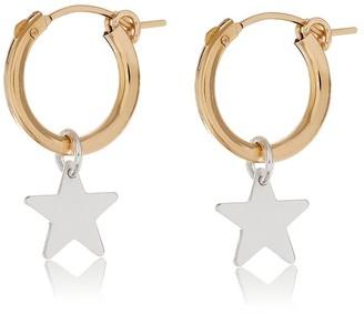Harry Rocks Silver Star Hoop Earrings