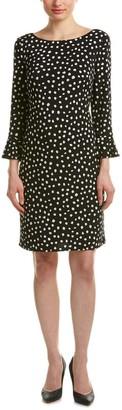 Jessica Howard JessicaHoward Women's Flutter Sleeve Dot Dress Black/Ivory 6