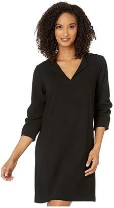 Karen Kane Ruched Sleeve Shift Dress (Black) Women's Clothing