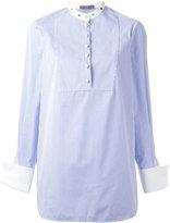 Alexander McQueen pinstriped blouse - women - Cotton/metal - 38