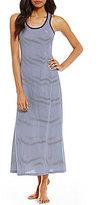 Lauren Ralph Lauren Striped Jersey Racerback Maxi Lounge Dress