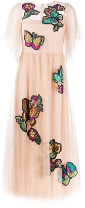 RED Valentino Butterfly Patches Point D'esprit Dress