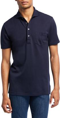 Ralph Lauren Purple Label Men's Jersey Pocket Polo Shirt, Navy