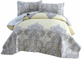 Dada Bedding Collection Bohemian Pale Daffodil Quilted Coverlet Bedspread Set, Light Yellow Gr