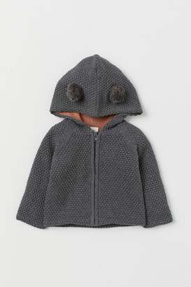 H&M Hooded cotton cardigan