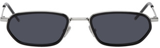 Christian Dior Silver and Black DiorShock Sunglasses