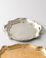 Horchow Silver Round Handled Charger Plate