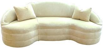 One Kings Lane Vintage Art Deco Upholstered Sofa - Vermilion Designs