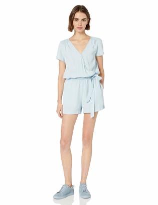 Daily Ritual Amazon Brand Women's Tencel Short-Sleeve Wrap Romper