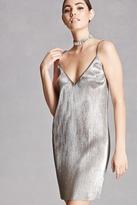 Forever 21 FOREVER 21+ Metallic Knit Cami Dress