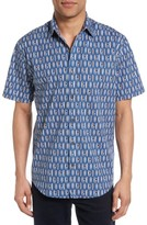 James Campbell Men's Surfboard Print Sport Shirt