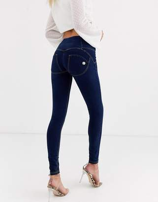 Freddy WR.UP 4 button jean with contrast stitching-Blue