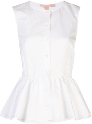 Brock Collection Sleeveless Peplum Shirt