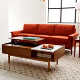 west elm Mid-Century Pop-Up Storage Coffee Table – Walnut