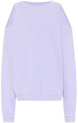 Maison Margiela Cut-out cotton sweatshirt