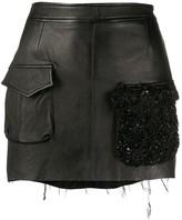 Almaz beaded pocket mini skirt