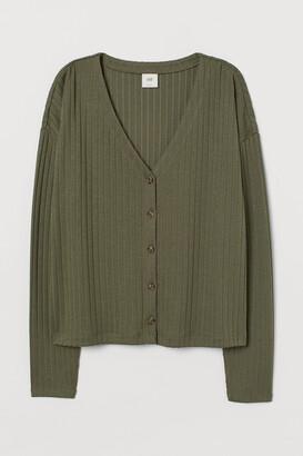 H&M Ribbed Cardigan