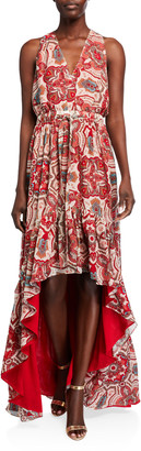 Ramy Brook Savanna Printed High-Low Dress