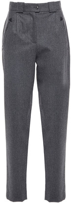 Alberta Ferretti Wool-blend Felt Tapered Pants