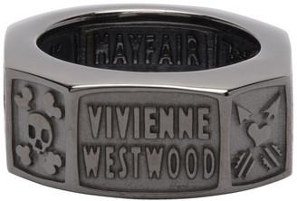 Vivienne Westwood Gunmetal Samos Ring