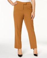 Anne Klein Plus Size Extended-Tab Pants