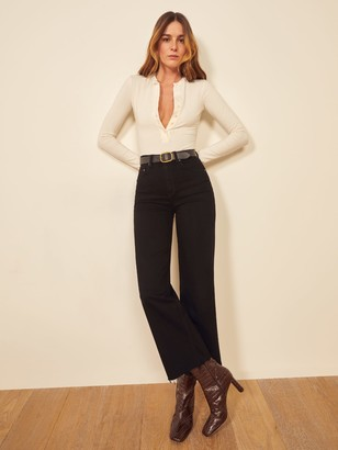 Reformation Emma High Rise Wide Leg Jeans