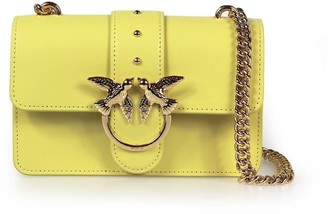 Pinko Love Mini Simply Yellow Crossbody Bag