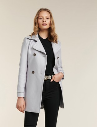 Forever New Helana Petite Trench Coat - Grey Mist - 12