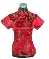 Shanghai Story Chinese Cheongsam Shirt Short Sleeve China Blouse for Women 10 R