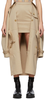 Burberry Beige Trench Coat Miniskirt