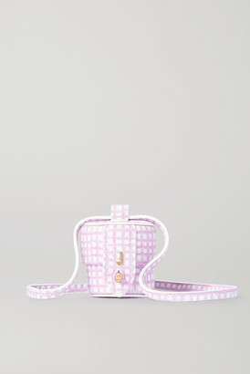 Jacquemus Le Micro Vanity Mini Checked Leather Shoulder Bag