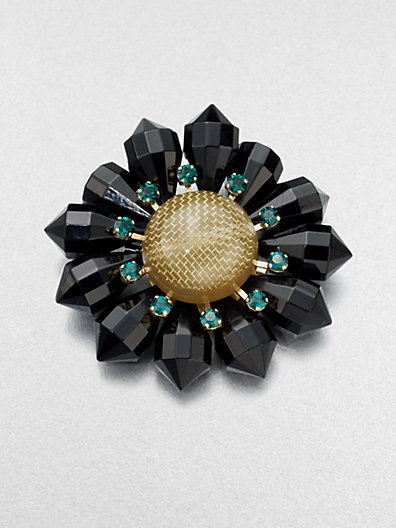 Marni Stone Accented Flower Pin