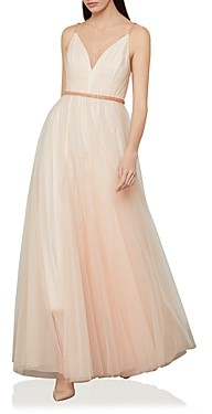 BCBGMAXAZRIA Tulle A Line Gown