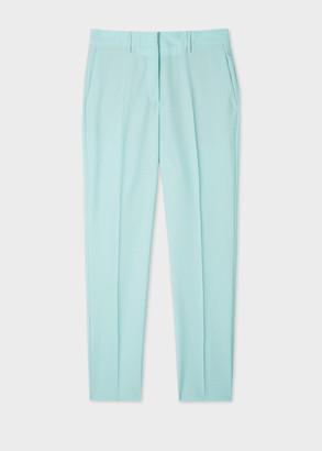 Paul Smith Women's Slim-Fit Mint Wool-Mohair Trousers