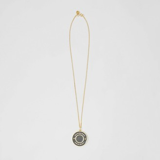 Burberry Logo Medallion Gold-plated Chain Necklace