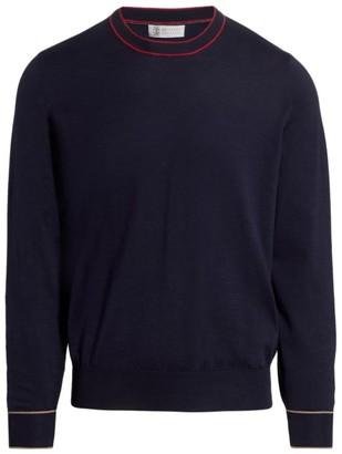 Brunello Cucinelli Dual Tipping Crew Sweater