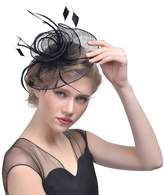 """FeiYu Crafts """"Arianna"""" Mesh Fascintor with Feather"""