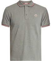 Moncler Short-sleeved cotton-piqué polo shirt