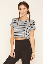 Forever 21 Striped Knit Crop Top
